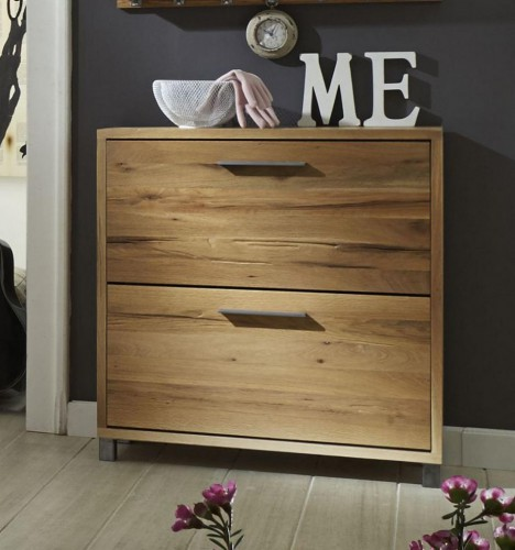 schuhkommode balkeneiche ge lt schuhschrank eiche massiv 2 klappen. Black Bedroom Furniture Sets. Home Design Ideas