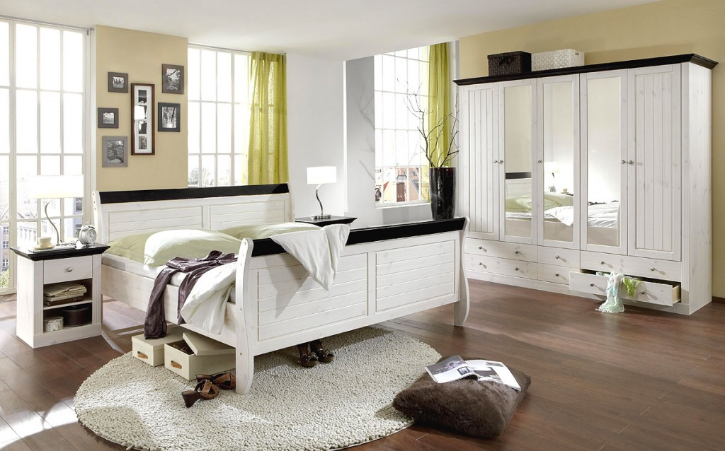 doppelbett vollholz 140x200 kiefer 2 farbig wei kolonial. Black Bedroom Furniture Sets. Home Design Ideas