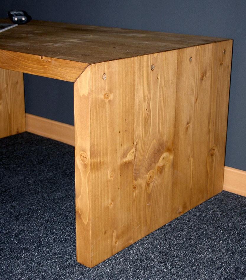 Massivholz couchtisch beistelltisch 85x50 vollholz for Beistelltisch vollholz