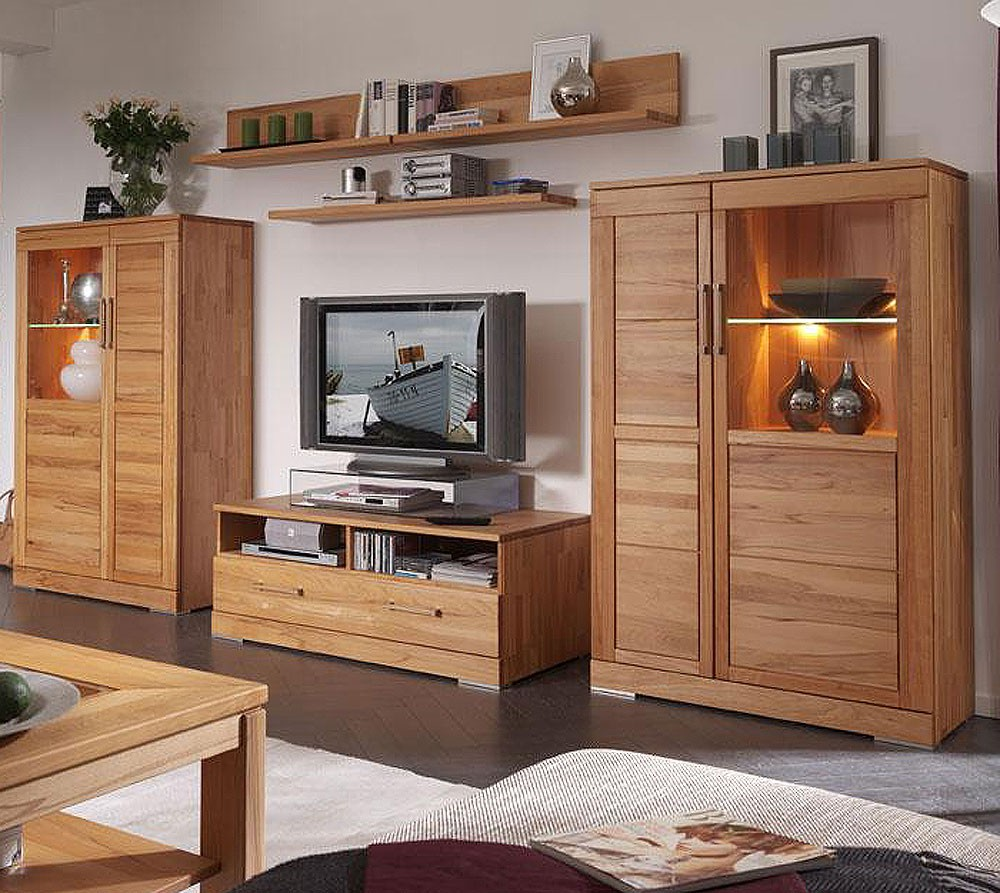 tv lowboard tv m bel fernsehtisch rotkernbuche massiv holz. Black Bedroom Furniture Sets. Home Design Ideas