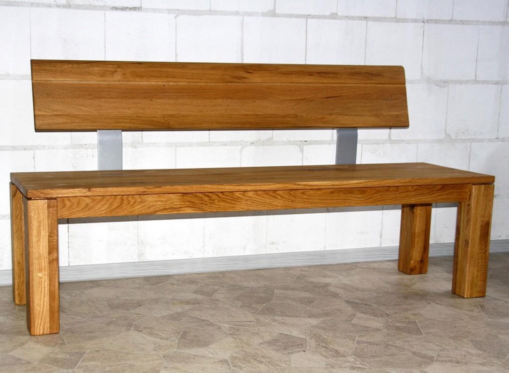 Rosenbogen Holz Mit Sitzbank ~ Odeus Sitzbank Mit Lehne Holzbank 150cm Wildeiche Massiv Holz Geà
