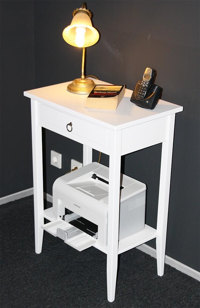 massivholz beistelltisch konsolentisch druckertisch. Black Bedroom Furniture Sets. Home Design Ideas