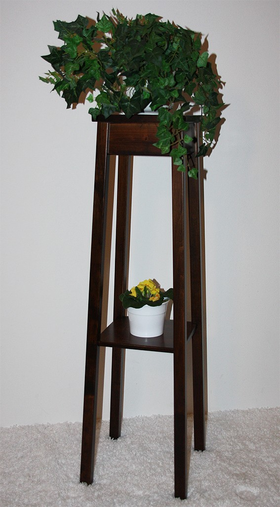 Blumentisch Blumenhocker Blumenständer 100 - Holz massiv kolonial