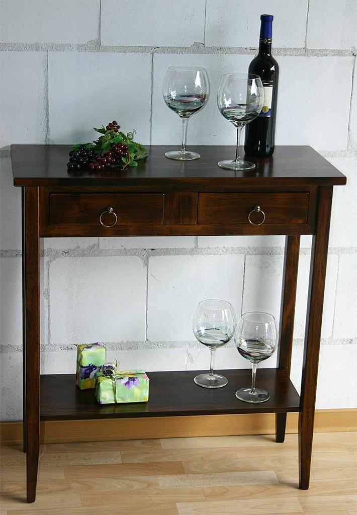 massivholz konsolentisch wandtisch beistelltisch telefontisch holz massiv kolonial. Black Bedroom Furniture Sets. Home Design Ideas
