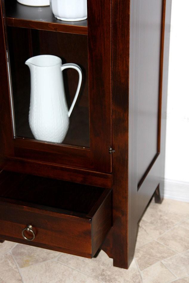 vitrine standvitrine vitrinenschrank badschrank holz massiv kolonial. Black Bedroom Furniture Sets. Home Design Ideas