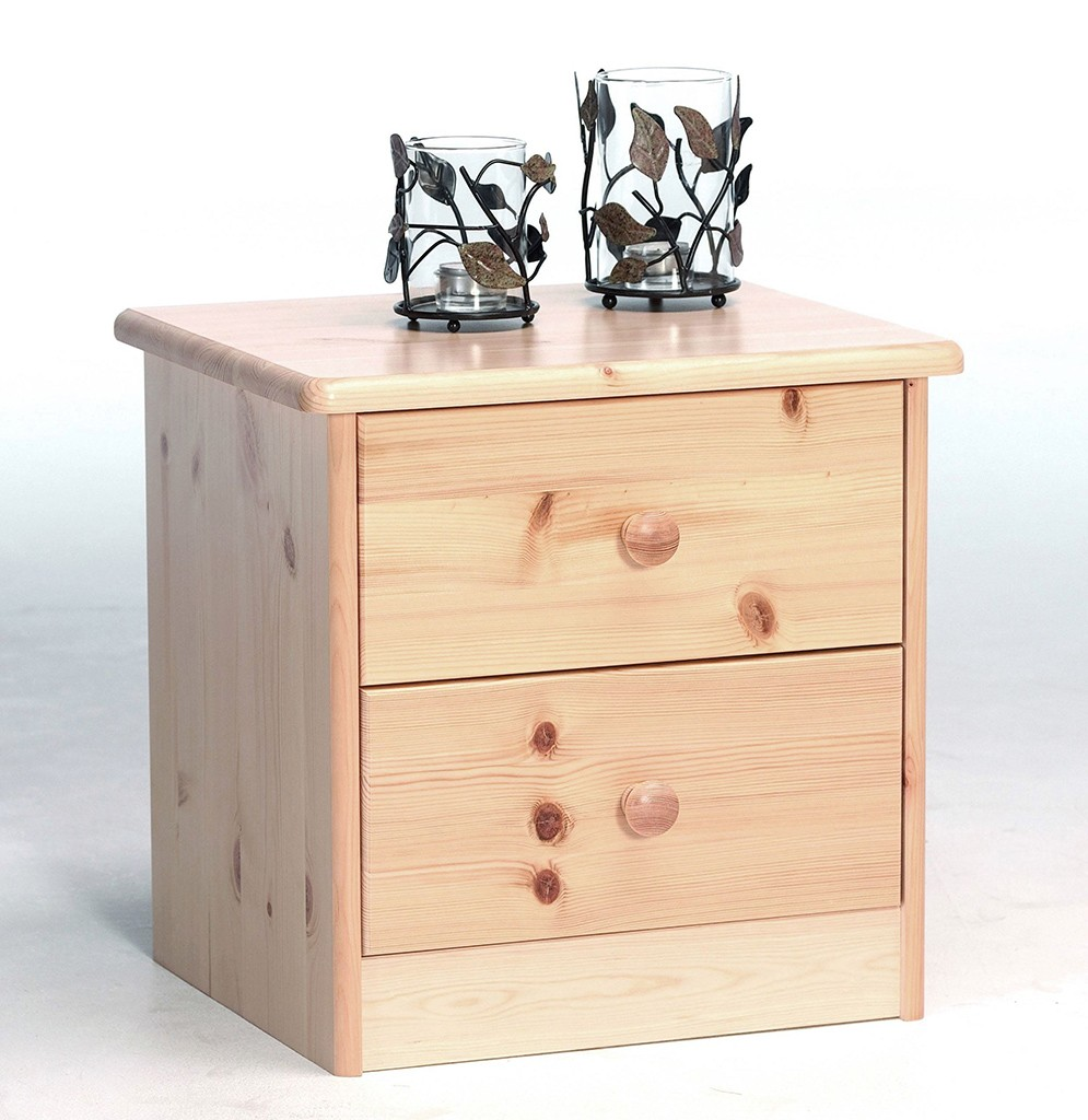 nachtkommode nachtschrank nachttisch natur lackiert kiefer massiv holz. Black Bedroom Furniture Sets. Home Design Ideas
