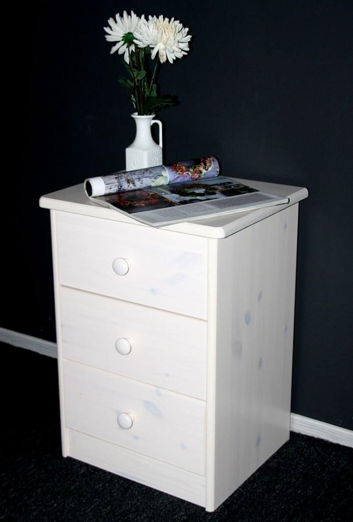 nachtschrank ole kiefer massiv wei das beste aus. Black Bedroom Furniture Sets. Home Design Ideas