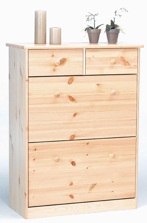 Massivholz schuhschrank kiefer lackiert schuhkommode for Schuhschrank 60