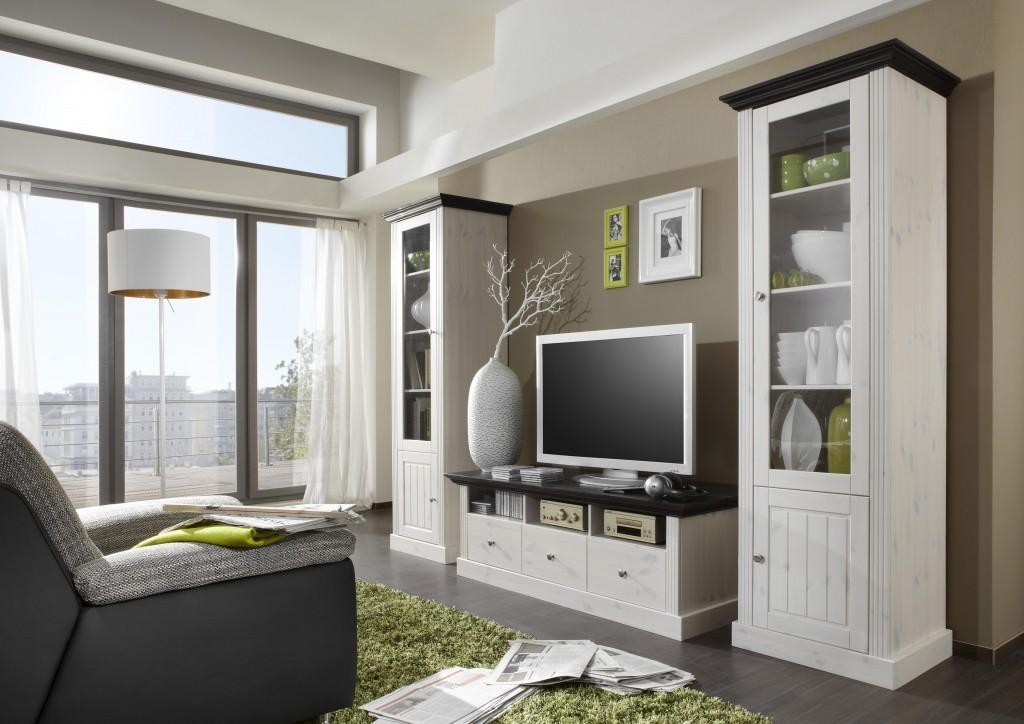 Wohnwand stockholm kiefer interessante for Lowboard design klassiker
