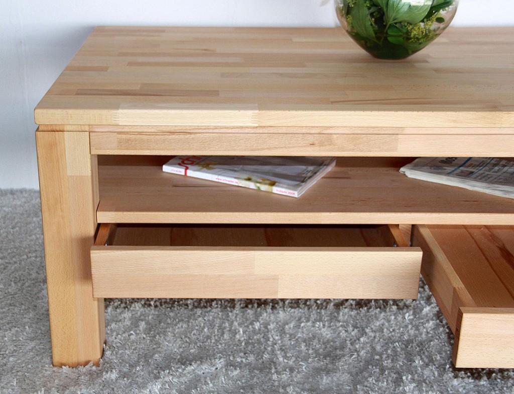 Massivholz couchtisch ge lt wohnzimmertisch 115x70 2 for Couchtisch 50 x 70