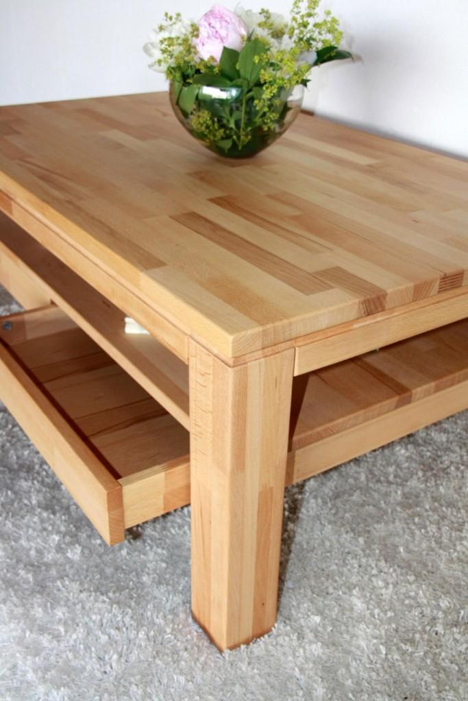 Massivholz couchtisch ge lt wohnzimmertisch 115x70 2 for Beistelltisch vollholz
