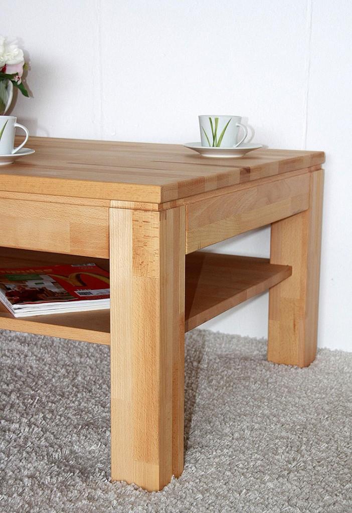 massivholz couchtisch 115x70 wohnzimmertisch 1 schubkasten. Black Bedroom Furniture Sets. Home Design Ideas