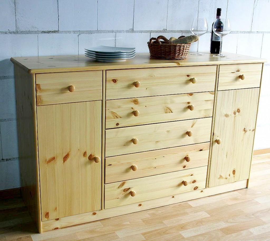 massivholz sideboard anrichte kommode buffetschrank kiefer. Black Bedroom Furniture Sets. Home Design Ideas