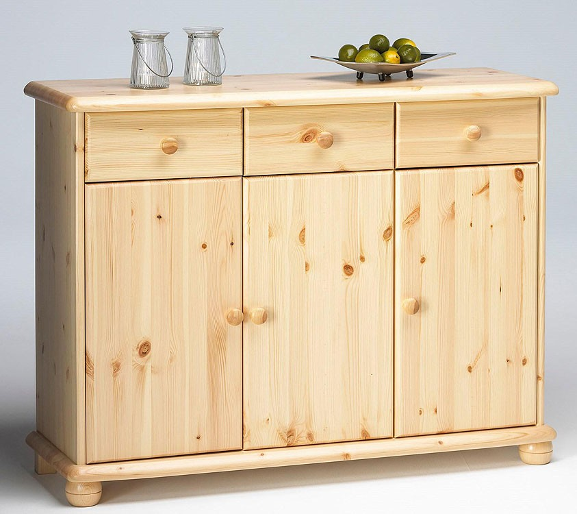 kommode anrichte schrank sideboard w schekommode holz kiefer massiv lackiert ebay. Black Bedroom Furniture Sets. Home Design Ideas