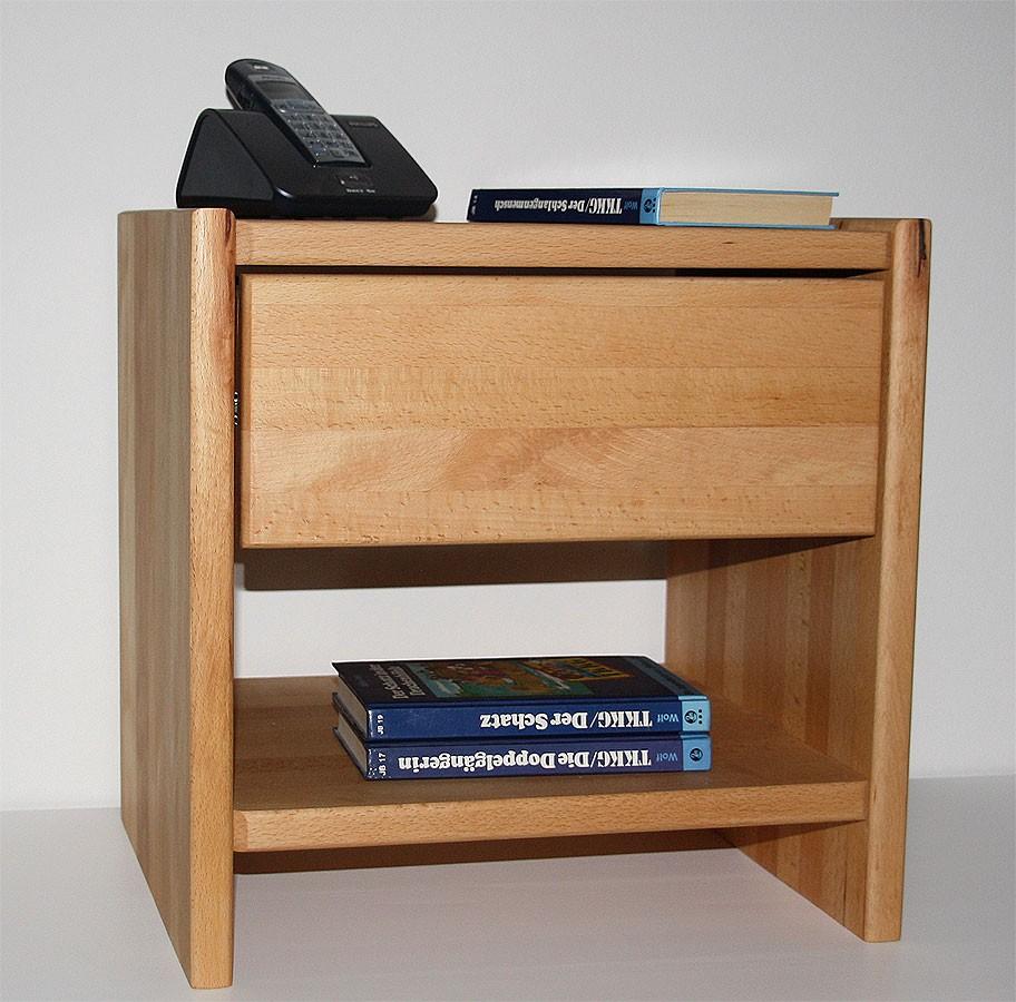 nachtkommode kernbuche tische. Black Bedroom Furniture Sets. Home Design Ideas