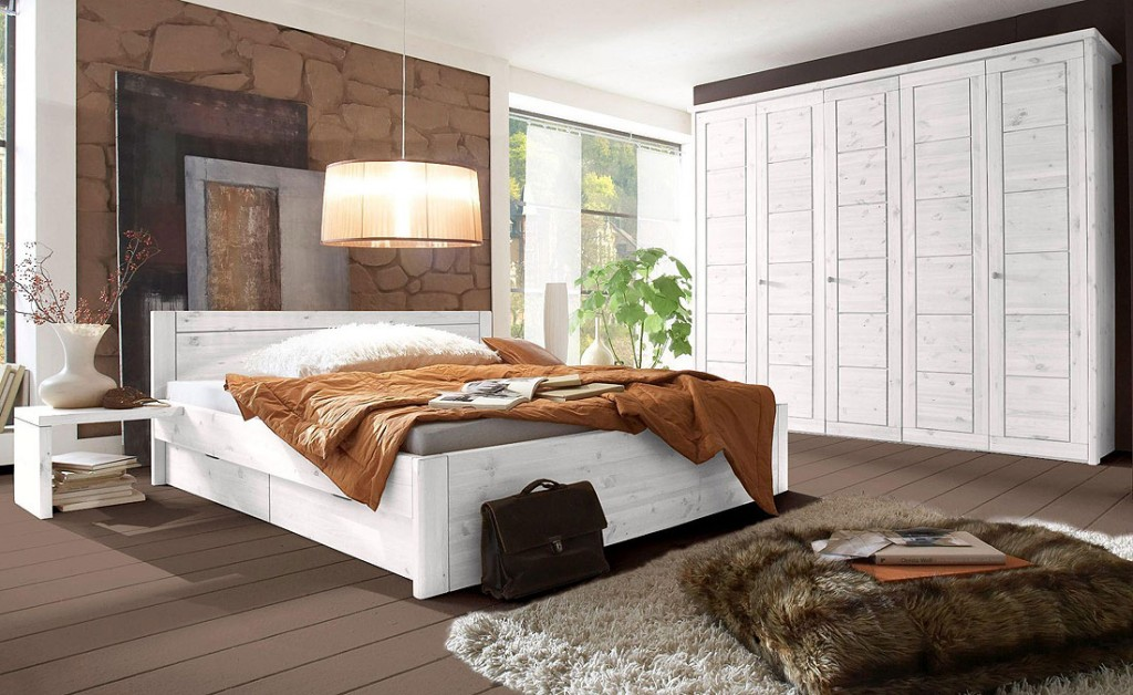 Landhausstil Schlafzimmer Kiefer ~ Massivholz Schlafzimmer weiß Landhausstil Möbel Guldborg Kiefer