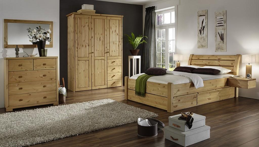 Massivholz spiegel mit holzrahmen 100x60 dielenspiegel kiefer schlafzimmerspiegel - Schlafzimmer komplett holz ...