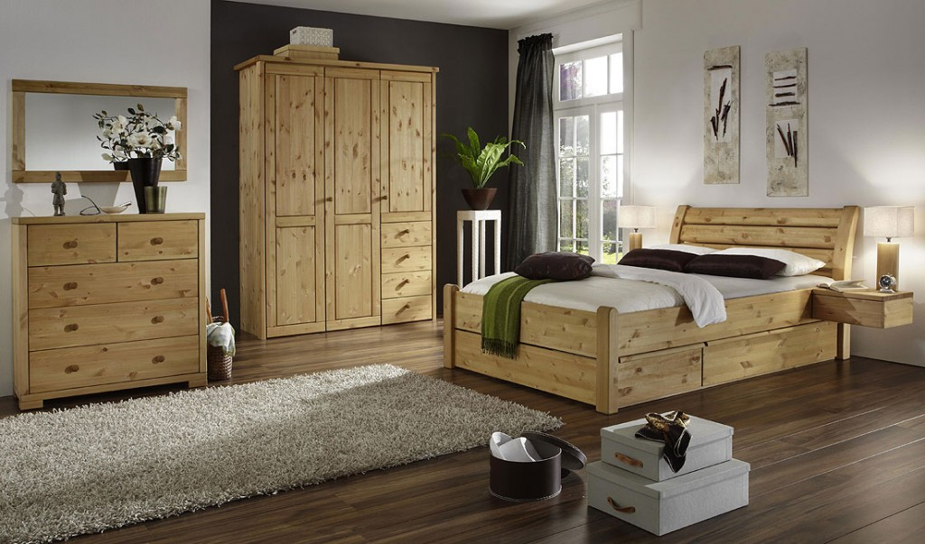 schlafzimmerschrank 3t rig kleiderschrank glatte front kiefer massiv. Black Bedroom Furniture Sets. Home Design Ideas