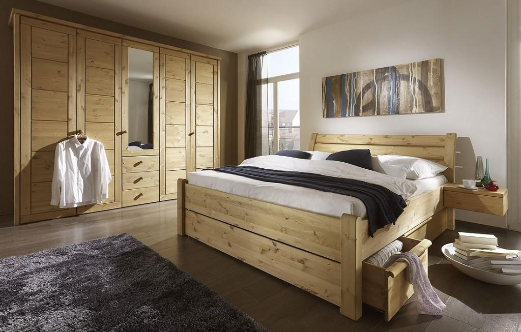 schlafzimmer holz massiv wildeiche, schrank