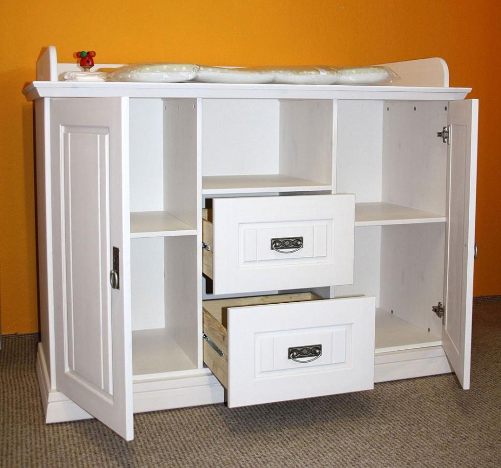 massivholz babyzimmer 6teilig wei gewachst komplett kinderzimmer set kiefer. Black Bedroom Furniture Sets. Home Design Ideas