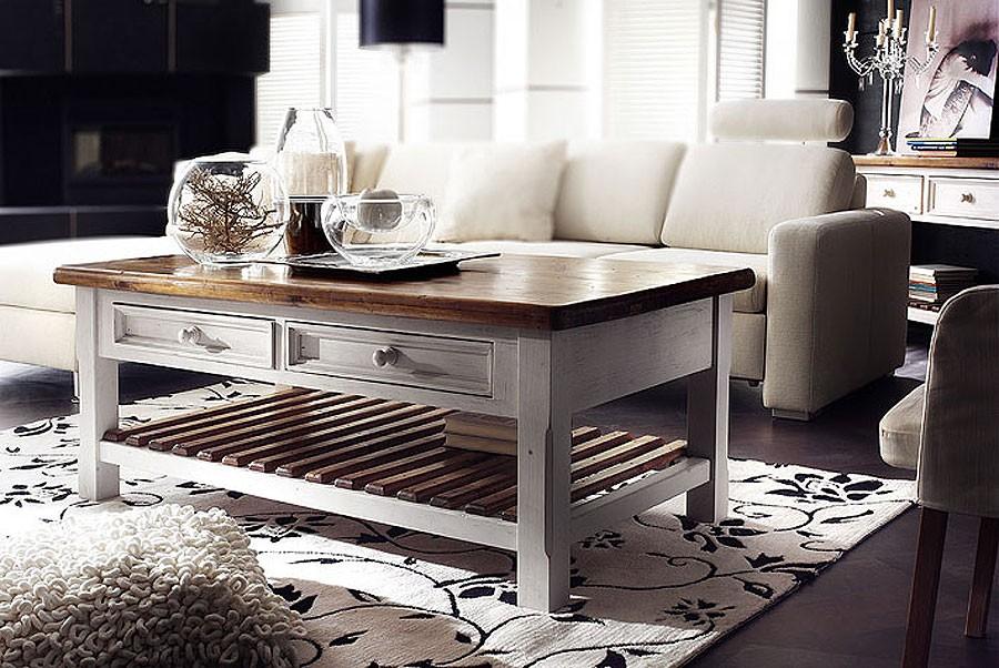 couchtisch 140x80 wohnzimmertisch shabby vintage kiefer massiv. Black Bedroom Furniture Sets. Home Design Ideas