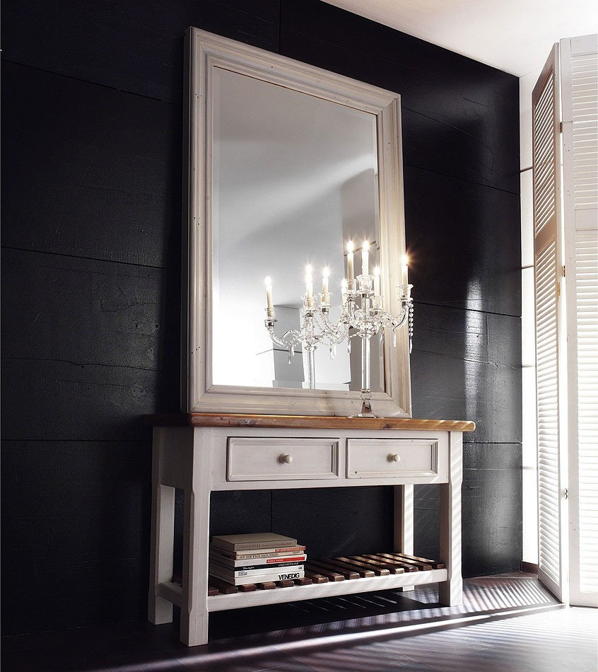 Couchtisch 140x80 wohnzimmertisch shabby vintage kiefer massiv for Spiegel couchtisch
