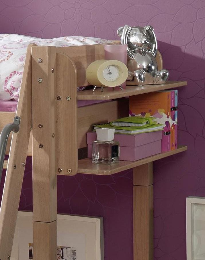 massivholz hochbett etagenbett kinderbett buche massiv natur lackiert. Black Bedroom Furniture Sets. Home Design Ideas