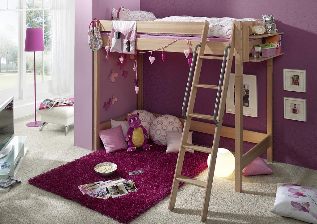 massivholz hochbett etagenbett kinderbett buche massiv natur lackiert. Black Bedroom Furniture Sets. Home Design Ideas