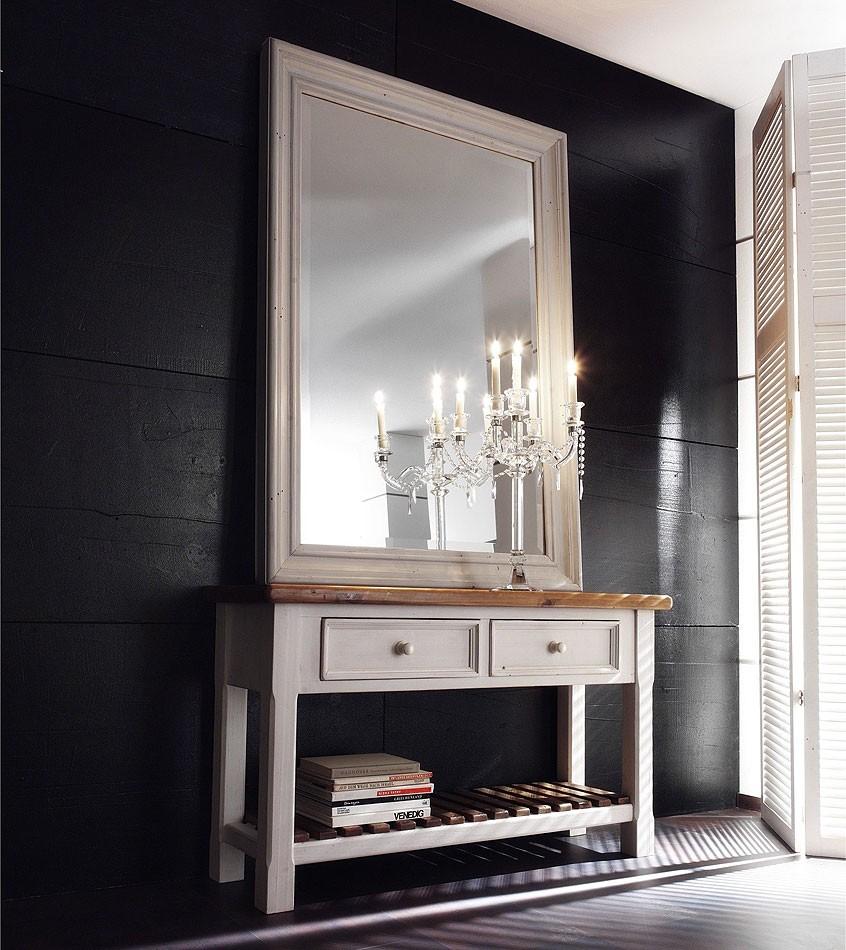 massivholz spiegel mit rahmen tisch dielenspiegel kiefer. Black Bedroom Furniture Sets. Home Design Ideas