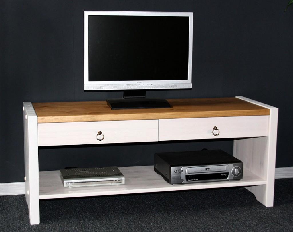 Massivholz Sitzbank TV-Möbel Dielenbank Bank Kiefer massiv ...