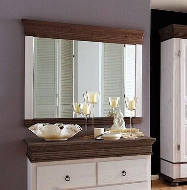 wandspiegel mit rahmen dielenspiegel kiefer massiv wei. Black Bedroom Furniture Sets. Home Design Ideas
