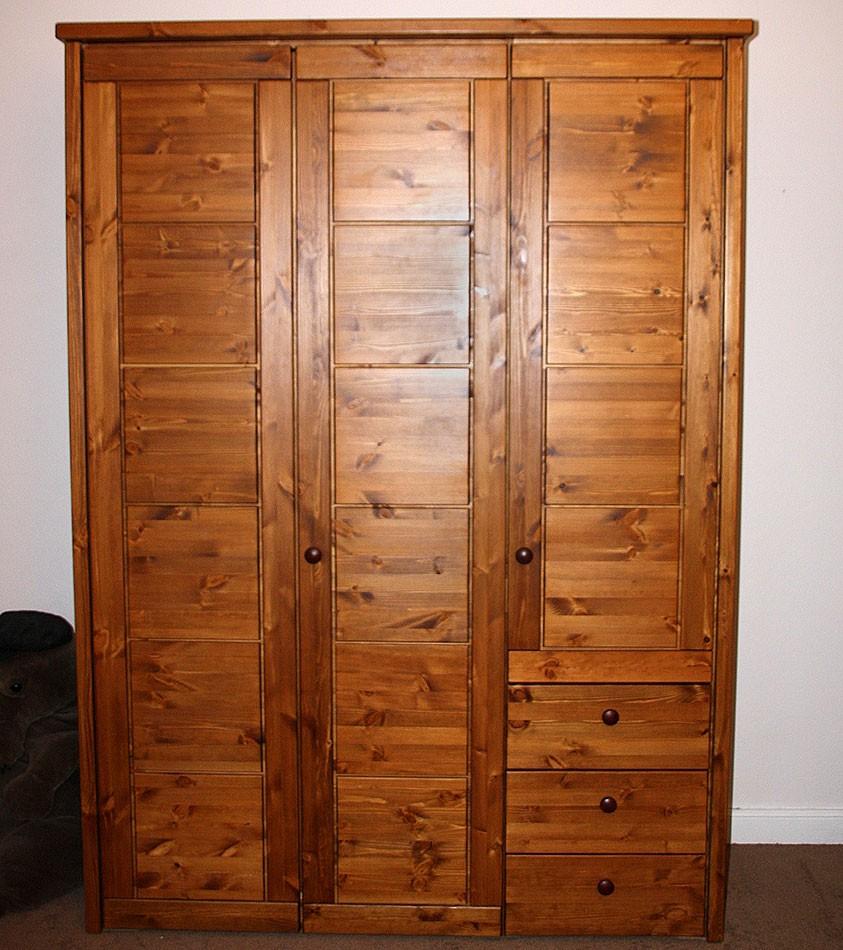 massivholz kleiderschrank 3t rig schlafzimmerschrank