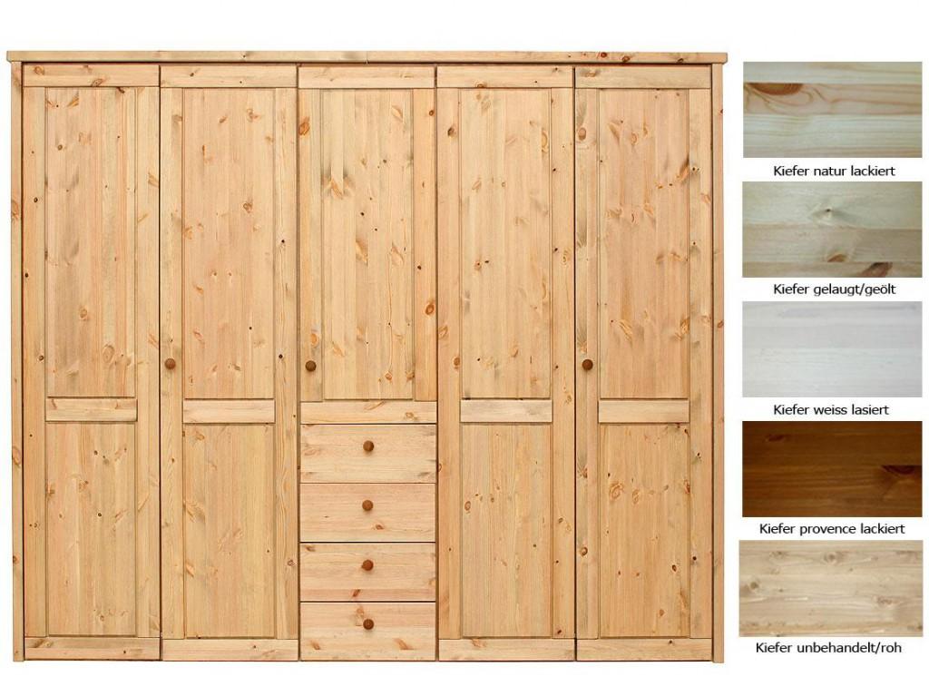 massivholz schlafzimmerschrank 5t rig kleiderschrank kiefer