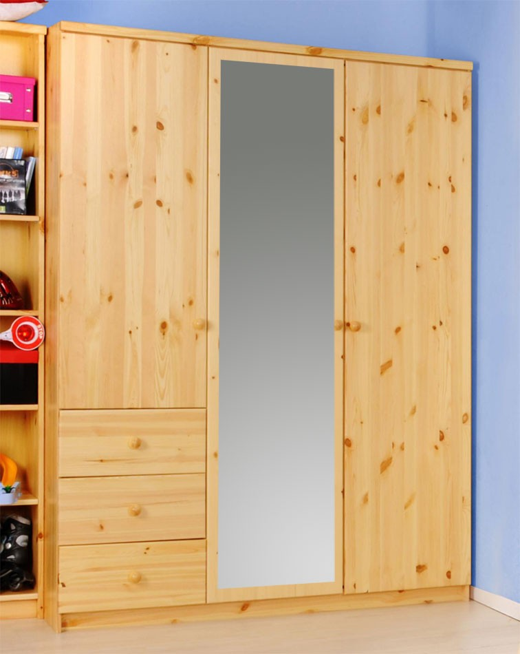 kleiderschrank kiefer natur preisvergleiche. Black Bedroom Furniture Sets. Home Design Ideas