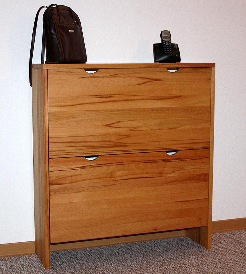 massivholz schuhschrank schuhkipper kommode kernbuche ge lt gewachst. Black Bedroom Furniture Sets. Home Design Ideas