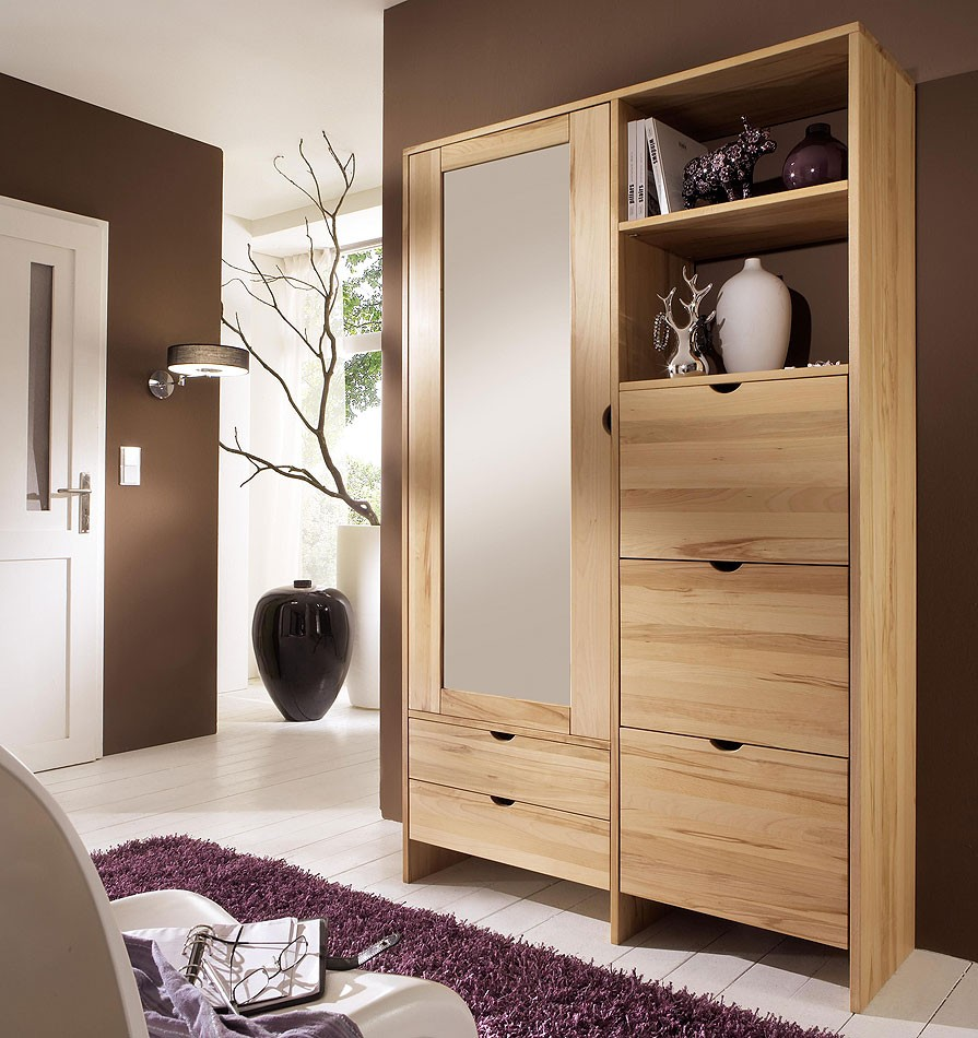 massivholz dielenschrank mehrzweckschrank kernbuche wildeiche massiv holz. Black Bedroom Furniture Sets. Home Design Ideas