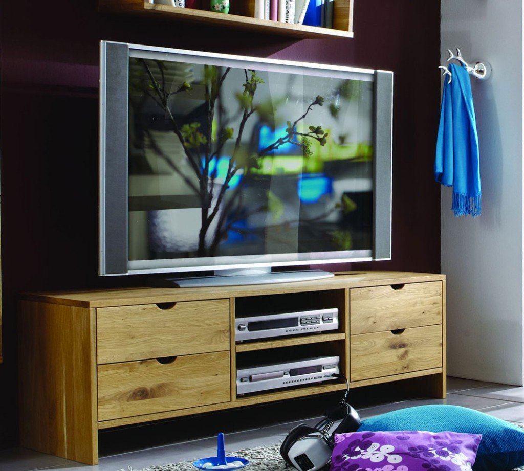 massivholz kommode tv m bel bank tv lowboard wildeiche massiv ge lt. Black Bedroom Furniture Sets. Home Design Ideas