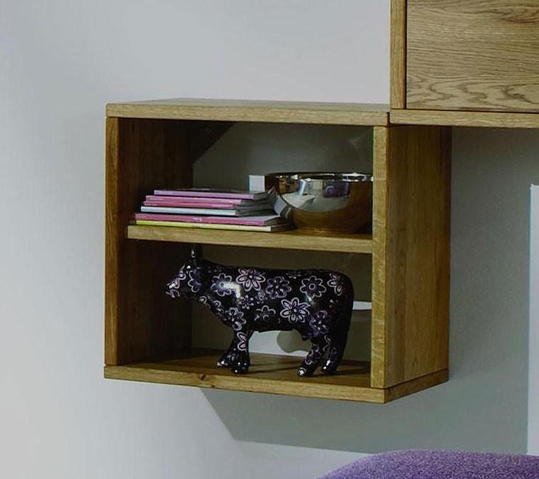 massivholz h ngekasten regalkombination wandregal. Black Bedroom Furniture Sets. Home Design Ideas