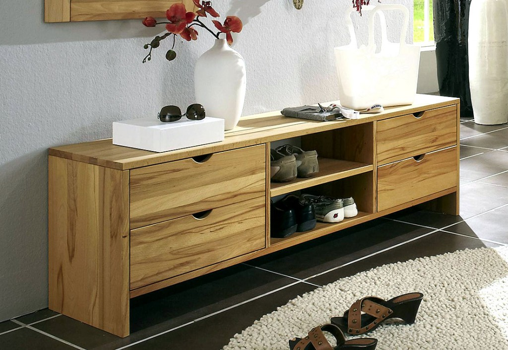 massivholz schuhbank dielen bank tv lowboard kommode kernbuche massiv ge lt. Black Bedroom Furniture Sets. Home Design Ideas