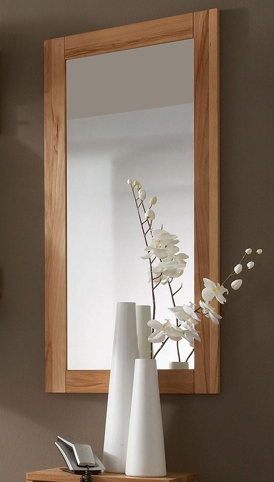 massivholz spiegel 50x100 wandspiegel schlafzimmerspiegel kernbuche massiv ge lt. Black Bedroom Furniture Sets. Home Design Ideas