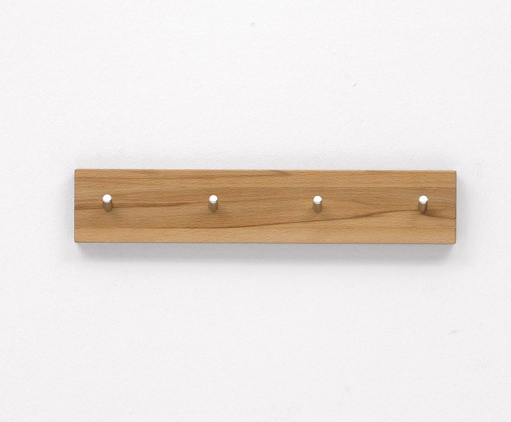 massivholz schl sselleiste hakenleiste garderobenleiste massiv kernbuche ge lt. Black Bedroom Furniture Sets. Home Design Ideas