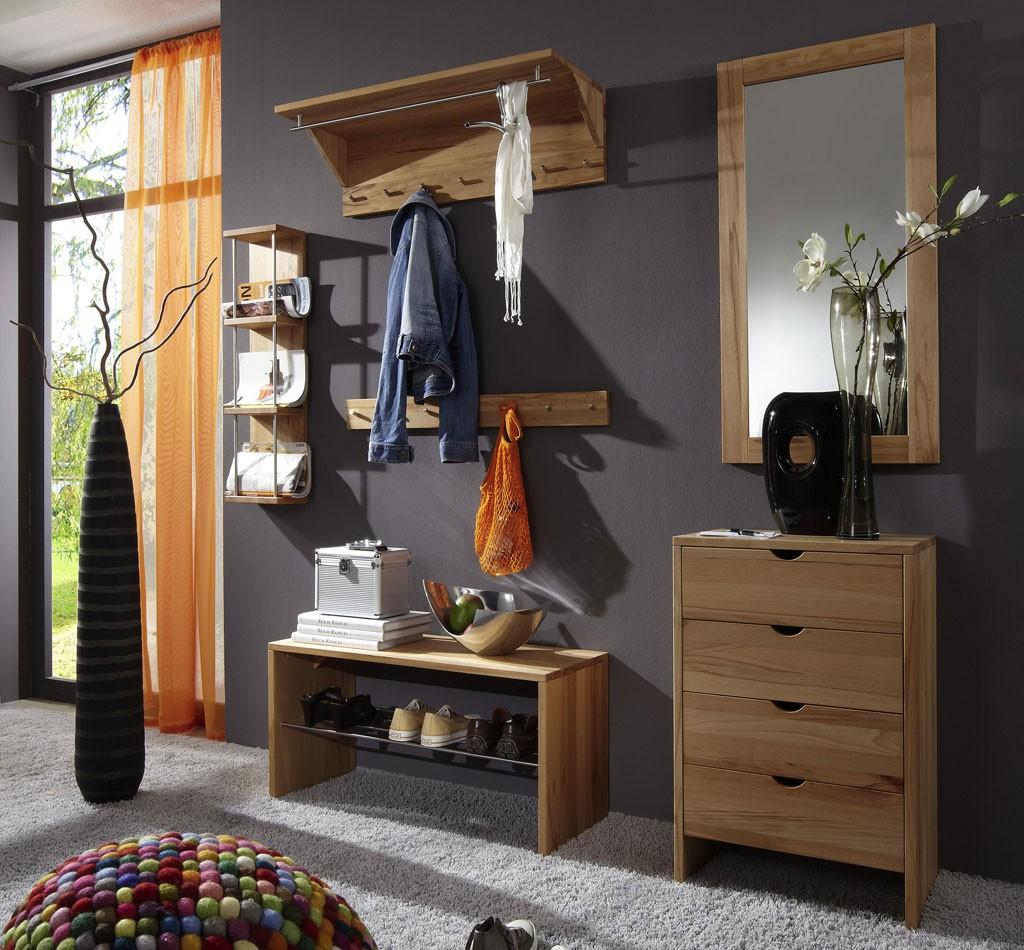 massivholz flurm bel garderoben set dielenm bel kernbuche. Black Bedroom Furniture Sets. Home Design Ideas