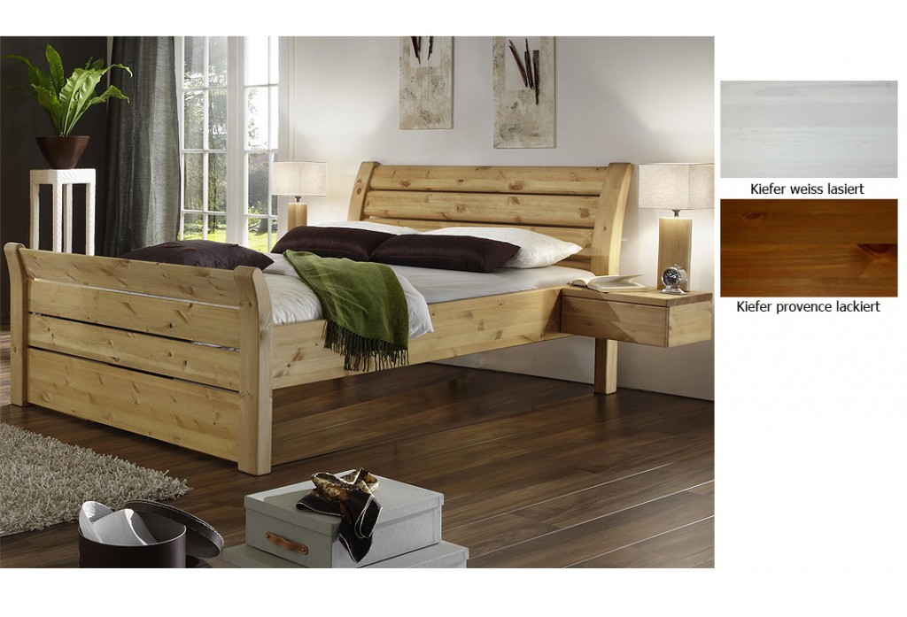 bett massivholz weis lasiert carprola for. Black Bedroom Furniture Sets. Home Design Ideas