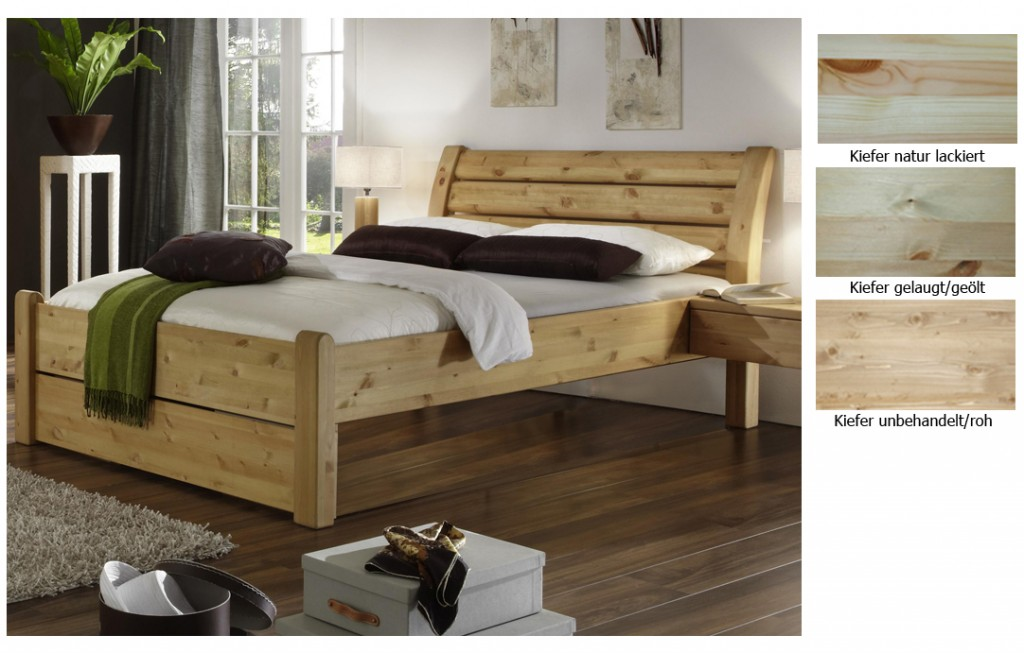 betten massivholz kiefer das beste aus wohndesign und. Black Bedroom Furniture Sets. Home Design Ideas