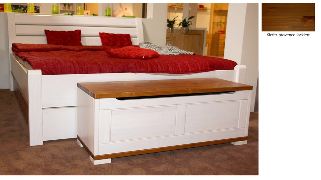 bett massivholz weiss 160x200 casa collection. Black Bedroom Furniture Sets. Home Design Ideas