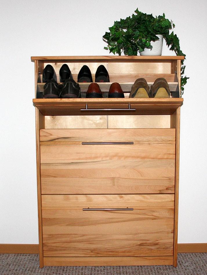 massivholz schuhschrank schuhkipper kommode kernbuche. Black Bedroom Furniture Sets. Home Design Ideas