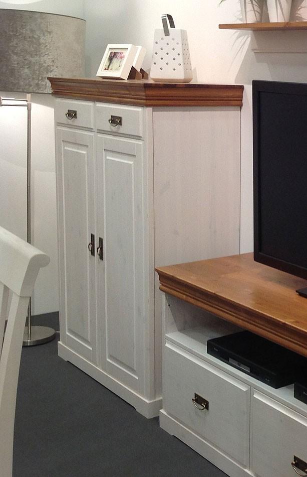 massivholz vertiko anrichte kommode kiefer massiv wei honig. Black Bedroom Furniture Sets. Home Design Ideas