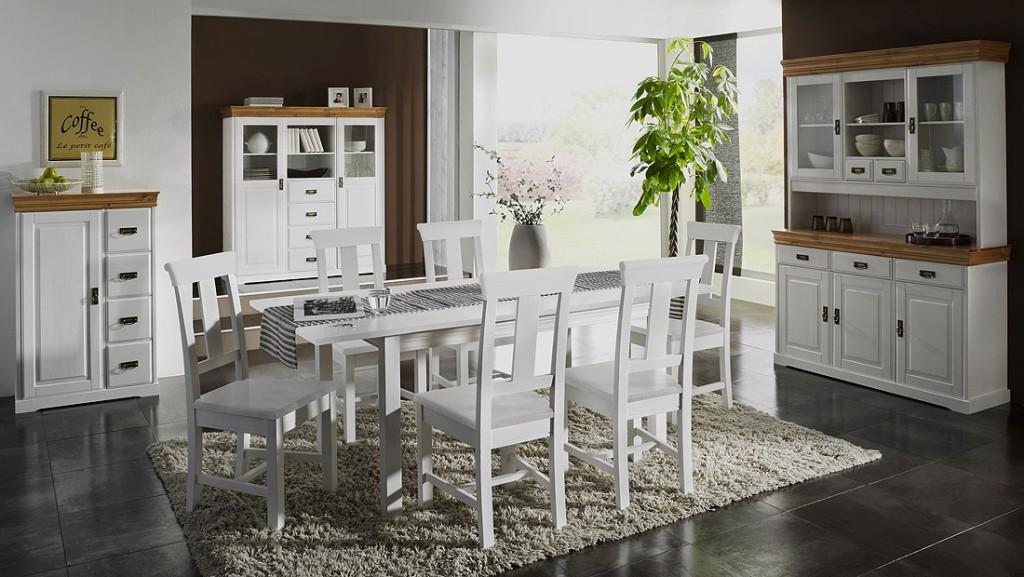 massivholz highboard k chenschrank esszimmerschrank kiefer massiv wei honig. Black Bedroom Furniture Sets. Home Design Ideas