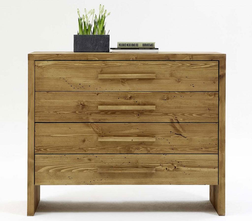 Massivholz kommode 120cm schubladenkommode vollholz for Kommode 80 cm breit holz