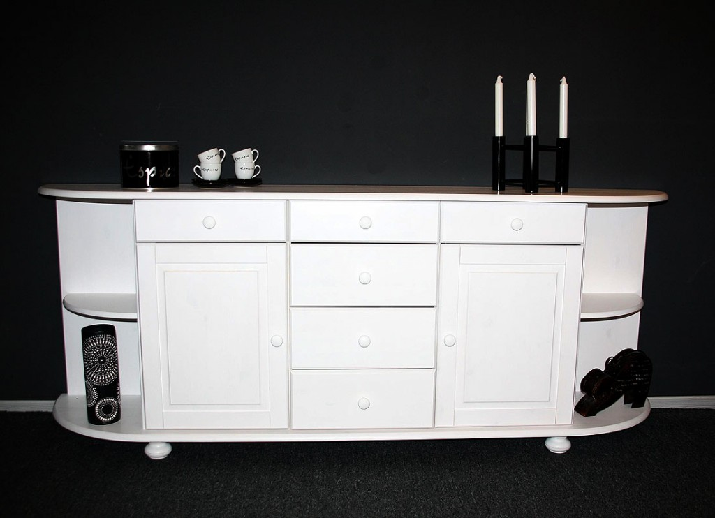 sideboard landhaus weiss sonstige casa collection. Black Bedroom Furniture Sets. Home Design Ideas